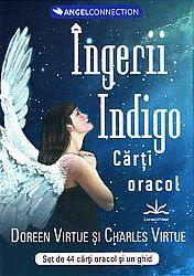 Tarotul cu îngeri pentru persoanele indigo  - set de 44 de cărţi oracol şi un ghid de interpretare