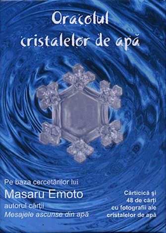 Oracolul cristalelor de apă  - cărticică şi 48 de cărţi cu fotografii ale cristalelor de apă